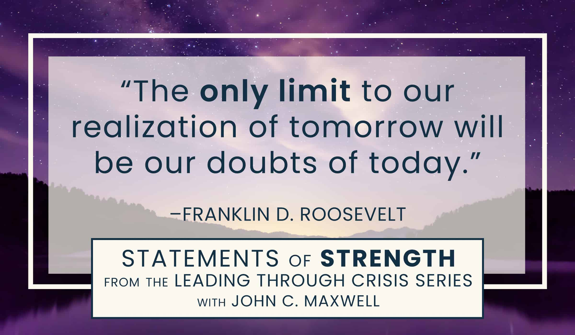 image of quotation picture with text quote by Franklin D Roosevelt