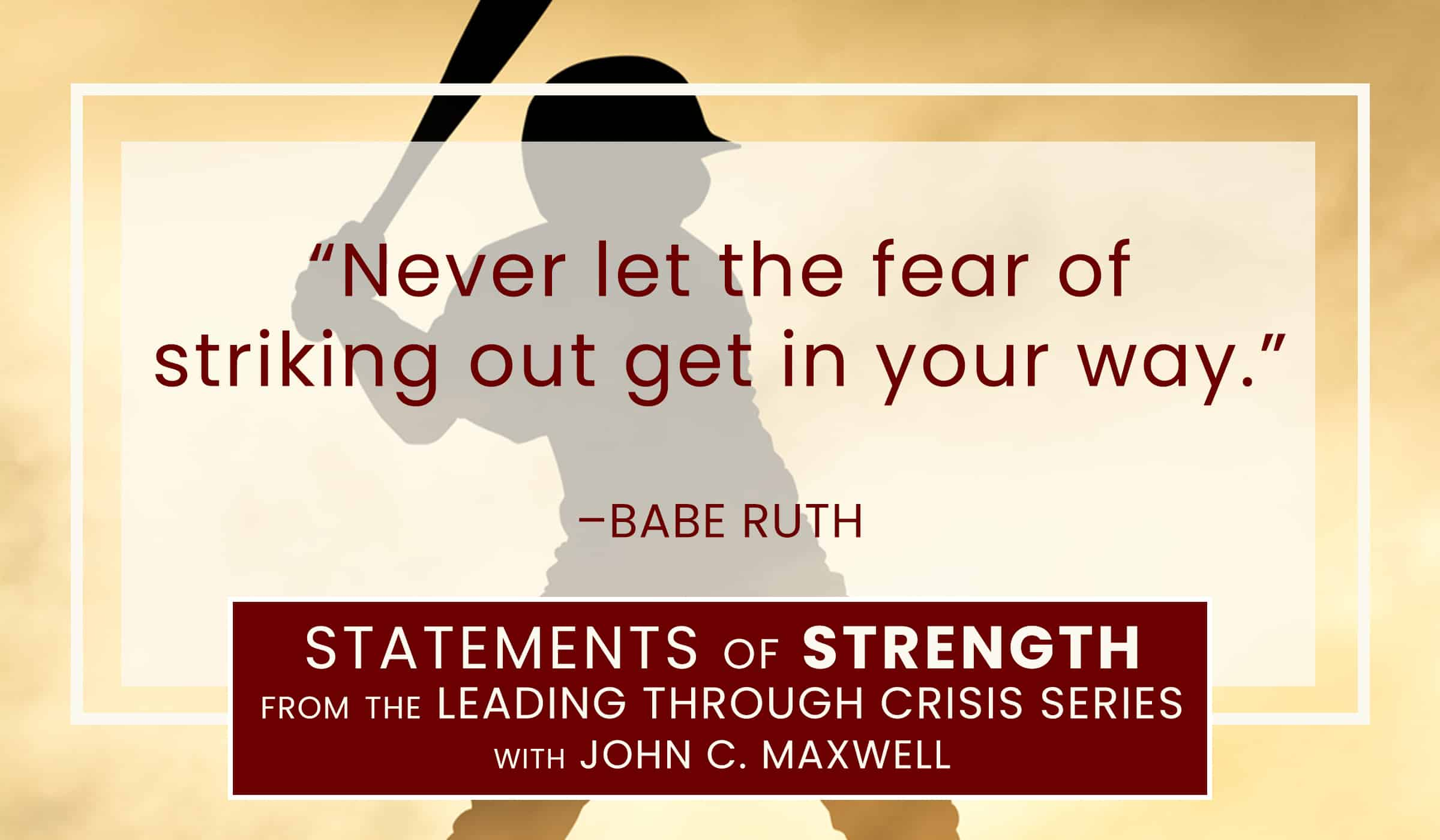 image of quotation picture with quote from babe ruth