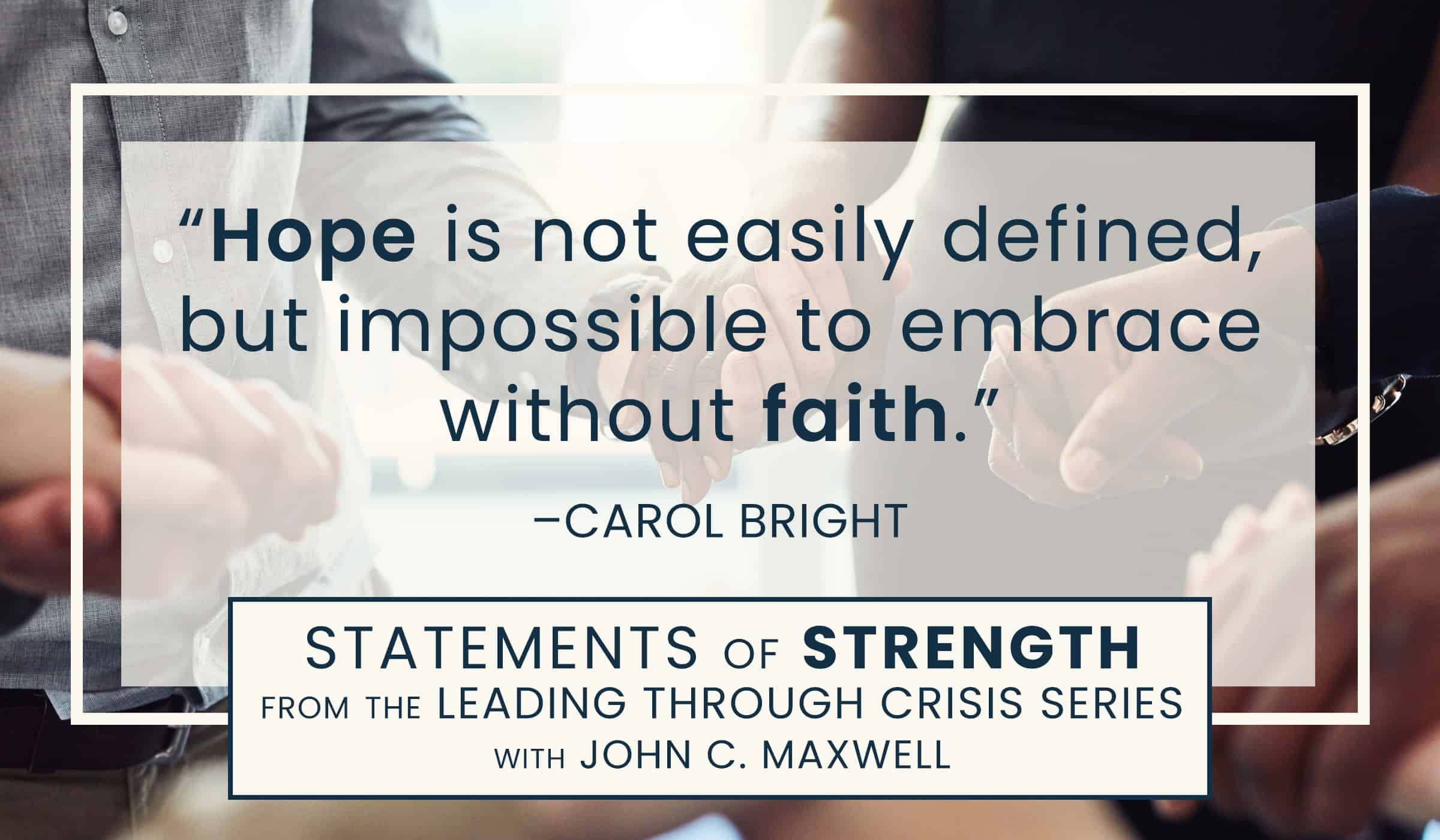 image of quote picture with quotation from Carol Bright